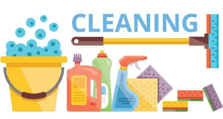 This check list can tell you the easiest ways for cleaning all the mess